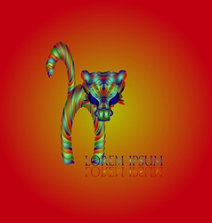 Cat Red Logo vector image