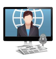 Computer News Concept vector image