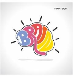 Creative brain shape abstract logo design vector image vector image