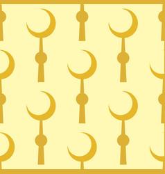 crescent muslim moon symbol star seamless pattern vector image vector image
