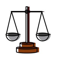 justice balance symbol vector image vector image