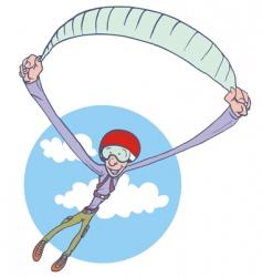 paraglider vector image vector image