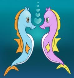 seahorse love vector image vector image