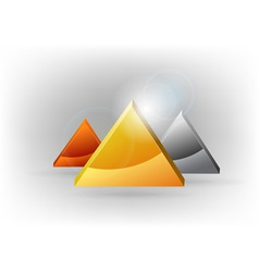 Three triangles vector