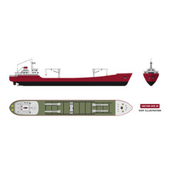 cargo ship on a white background vector image