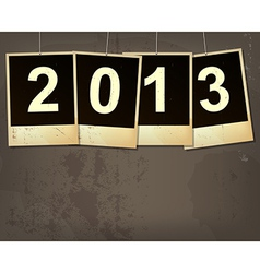 new year 2013 grunge background vector image