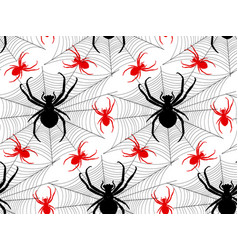 pattern with spiders vector image vector image