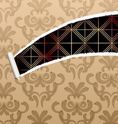 ripped damask wallpaper vector image