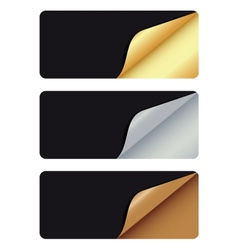 Banners with different corner and place for your vector image vector image