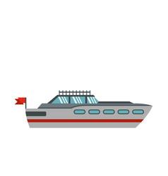 big yacht icon flat style vector image