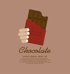 Chocolate bar in red wrap vector