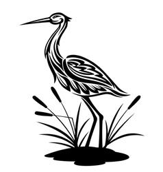 Heron bird vector