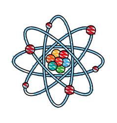 isolated atom design vector image vector image