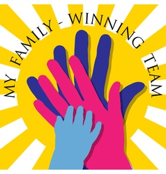 My family-Winning team vector image vector image