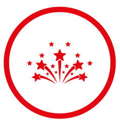 star fireworks rounded icon vector image