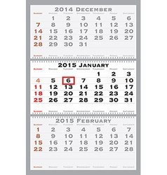 2015 january with red dating mark vector