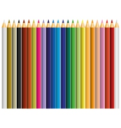 24 color pencil vector