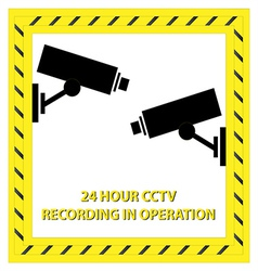 24 Hour CCTV Recording vector image