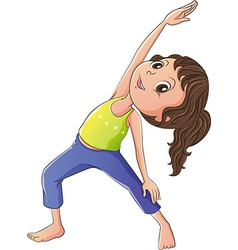 A woman doing yoga vector