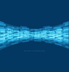 Abstract blue data flow curve design modern vector