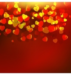 Abstract red background with red hearts vector image