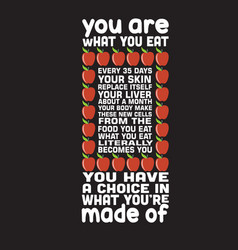 apple quote and saying good for your goods design vector image
