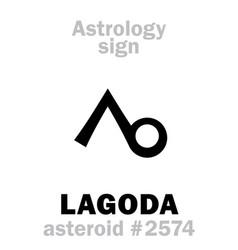 astrology asteroid lagoda vector image