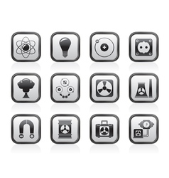 Atomic and Nuclear Energy Icons vector