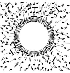 background music notes vector image