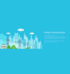 Banner of electric power transmission vector