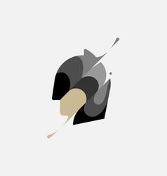 Batman head colorful modern minimal style vector