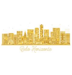 belo horizonte brazil city skyline golden vector image
