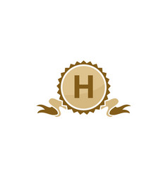 Best quality ribbon letter h vector