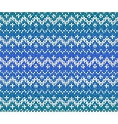 Blue knitted Scandinavian ornament seamless vector