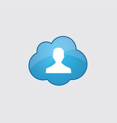 Blue male profile icon vector image