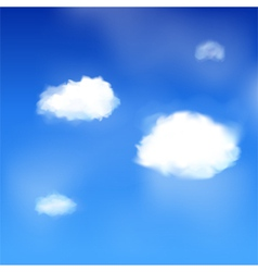 blue sky and clouds vector image vector image