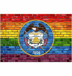 Brick wall utah and gay flags vector