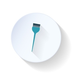 Brush for painting hair flat icon vector image