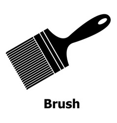 brush icon simple black style vector image vector image