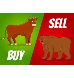 bull and bear vector image