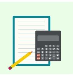 Calculator sheets of paper vector