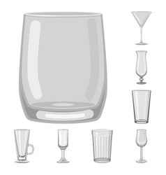 Capacity and glassware sign vector