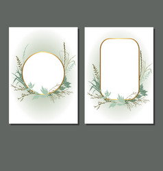 cards with grass vector image
