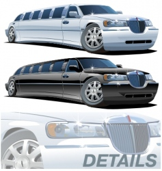 cartoon limousines vector image