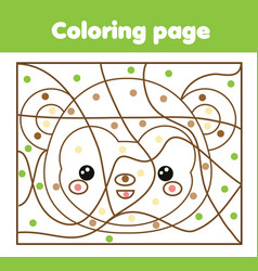 Children educational game coloring page with vector