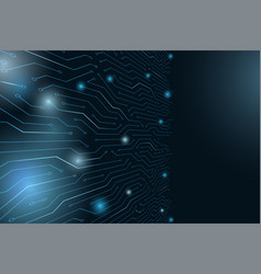 Circuit board abstract futuristic technology vector
