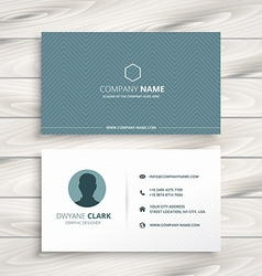 Clean minimal business card vector