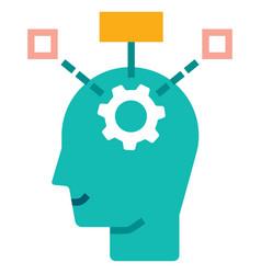 Critical thinking flat vector