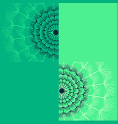 Decorative flower dandelion on green background vector