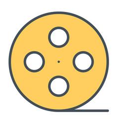 film reel line icon cinema production symbol vector image
